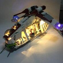 HA CONDOTTO LA luce kit per lego 75021 e 05041 Il Republic Gunship blocchi di costruzione (solo la luce kit incluso)