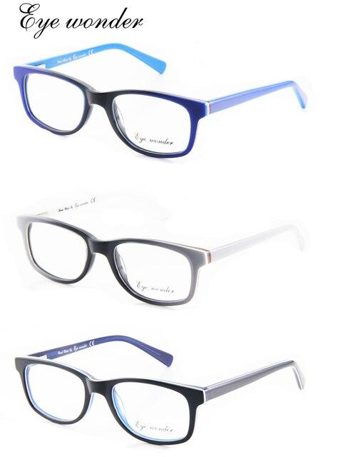 12 teile los 100% Handgefertigten Acetat jungen und Mädchen Mode Optische  Gläser Rahmen Blau 201410524a