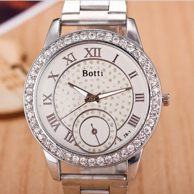 2017 New Brand Gold Crystal Stars Casual Quartz Watch Women Stainless Steel Dress Watches Relogio Feminino Silver Clock Hot Sale new luxury brand dqg crystal rosy gold casual quartz watch women stainless steel dress watches relogio feminino clock hot sale