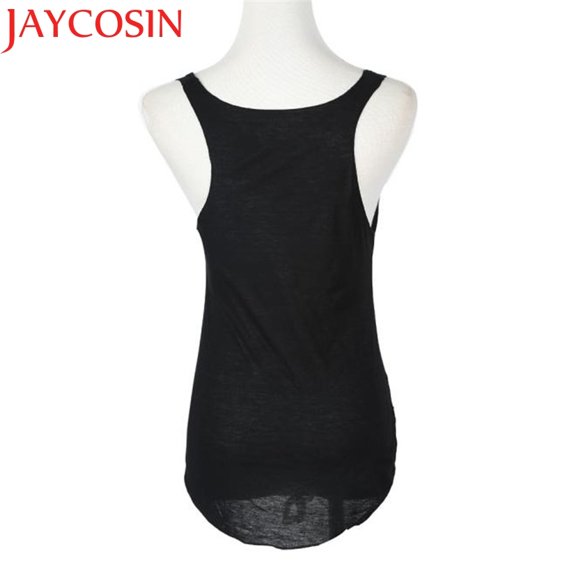 JAYCOSIN Fashion  Coolbeener Fashion Summer Woman Lady Sleeveless V-Neck Candy Vest Loose Tank Tops T-shirt Drop Shipping