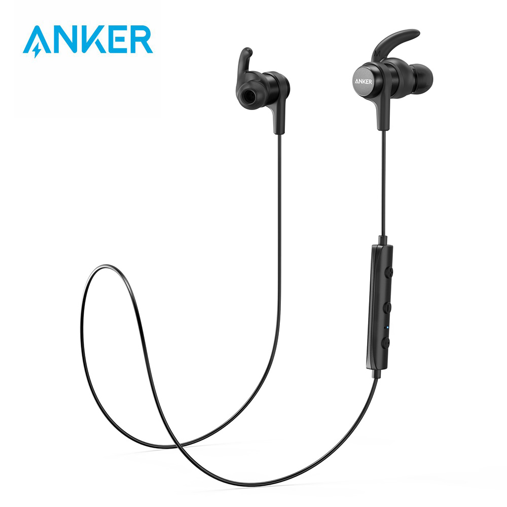 Anker SoundBuds Flow Lightweight Wireless Earphones with Bluetooth 4 1 Sports Water-Resistant Nano Coating