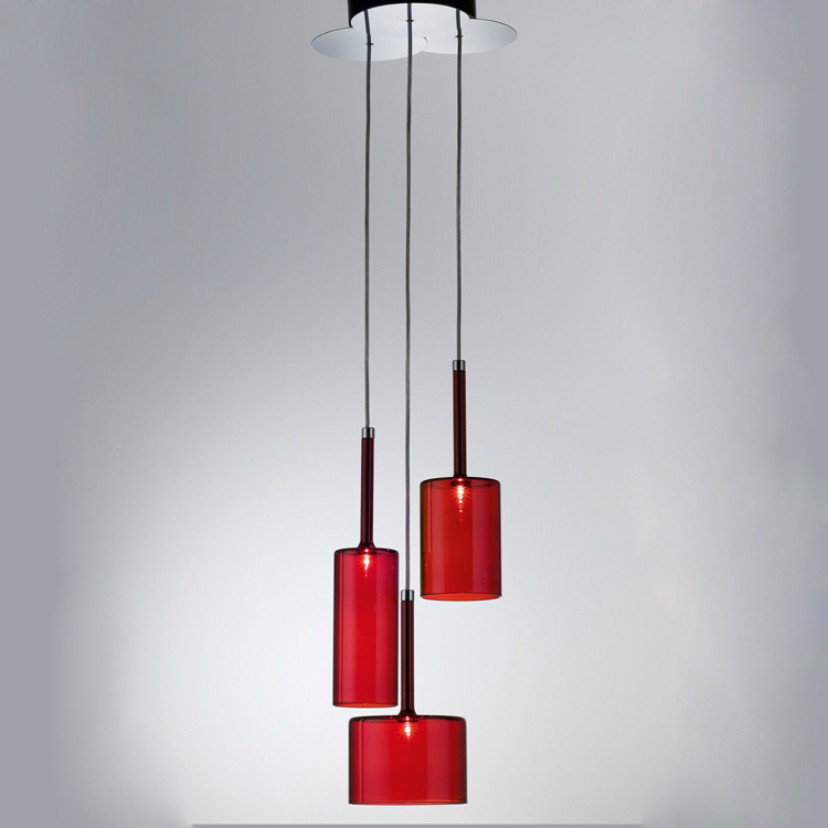 Creative glass pendant lights personality transparent bar restaurant study pendant lamps 1PC red gray orange glass lighting ZA modern contemporary creative personality retro art glass pendant lamps cafe restaurant study lamps milan pendant lights 1 piece