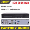 1080P HDMI H 264 4ch Full D1 CCTV DVR HVR Recorder 960H Network Mobile Phone View