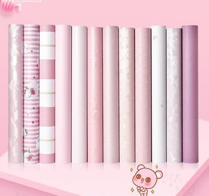 Image 4 - Pink erotic room layout wall stickers decorations dormitory pink wallpaper self adhesive bedroom warm girl stickers wallpaper