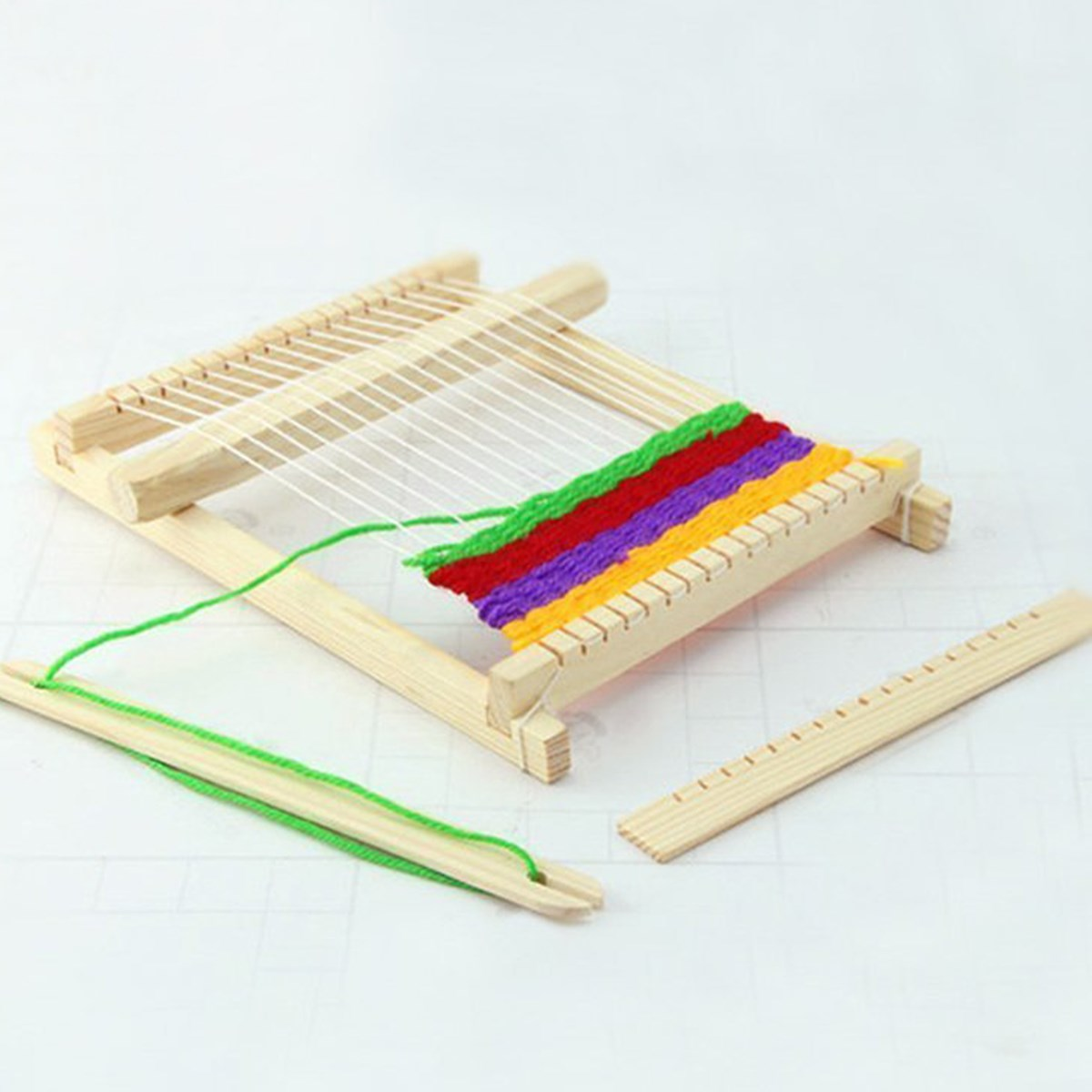 New Traditional Wooden Weaving Toy Loom with Accessories ...