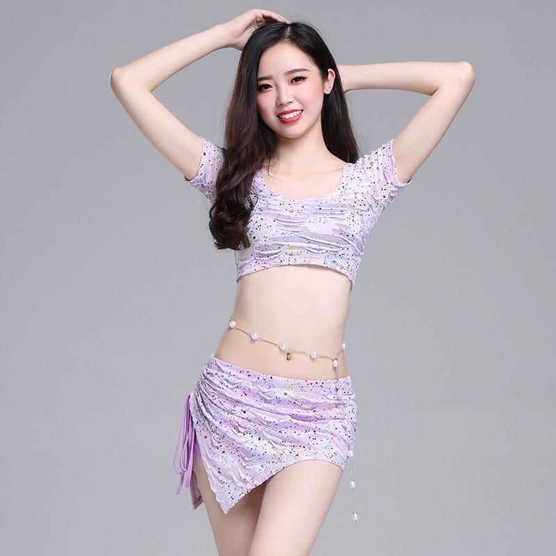 Belly Indian eastern hair swinging baladi dance costumes Bellydance oriental dancing costume robe bra belt skirt dress wear 3296