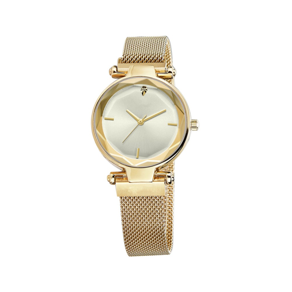 Simple Women Watches  Fashion  Ladies Clock Luxury Quartz Wristwatch Irregular Dial Magnetic Buckle Strap Zegarki Damskie@50