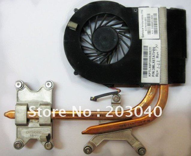 100% original heatsink and FAN for hp DV6 DV7 dv6-3000 dv7-4000 Thermal  Module 606729-001 603691-001 606731-001 3MLX6TATPP0