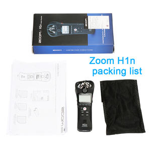 Image 5 - ZOOM H1 H1N poręczny rejestrator cyfrowy aparat fotograficzny rejestrator audio wywiad nagrywanie mikrofon stereofoniczny dla DSLR Boya BY M1 mikrofon