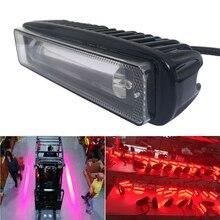 1PCS 30W LED Forklift Truck RED Line Warning Lamp Safety Work Light 10-80V IP65