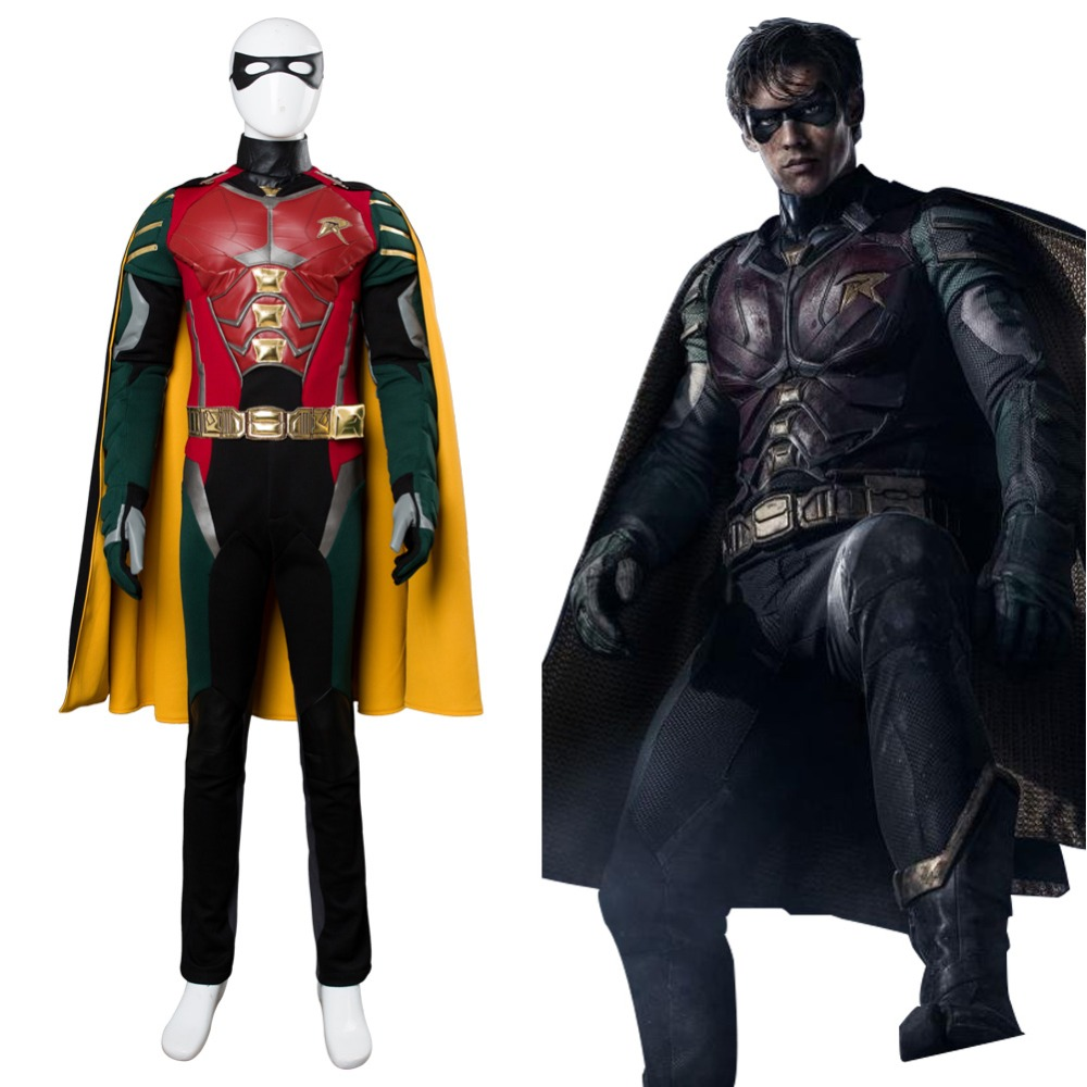 BATMAN /& ROBIN DC JUSTICE LEAGUE ROBIN HALLOWEEN COSTUME PLAY SET AGES 6+