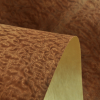 Natural Sapeli Pomelle Veneer with  Craft Paper Backer