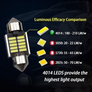 Image 2 - 2Pcs 3030 SMDแผนที่โดม 31 มม.ไฟLED 6500KสีขาวSMDรถDouble TIPอ่านโคมไฟหลอดไฟLEDสำหรับรถยนต์