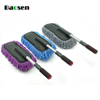 Baosen 1Pcs Adjustable Car Brushes Auto Cleaning Brushes With Microfiber Household Cleaning Tools