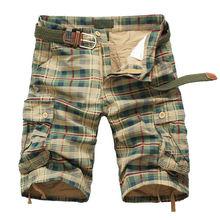 Мужские шорты Модные клетчатые пляжные шорты мужские повседневные камуфляжные шорты в стиле милитари короткие брюки мужские бермуды карго комбинезоны