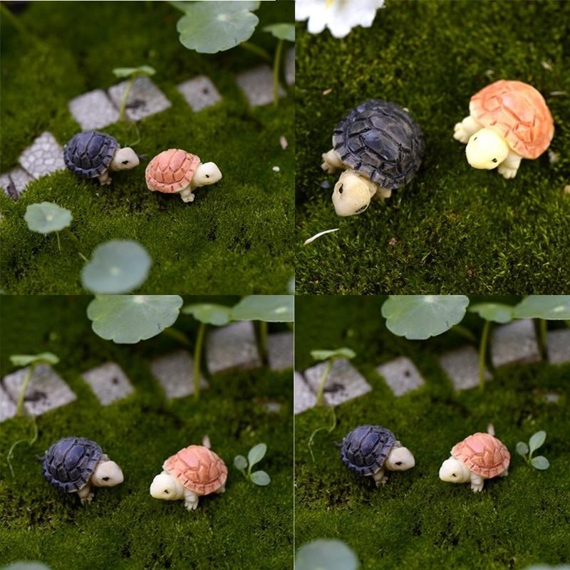 Factory Price 10pcs Miniature Dollhouse Bonsai Fairy Garden Landscape Tortoise Decor Hot sale