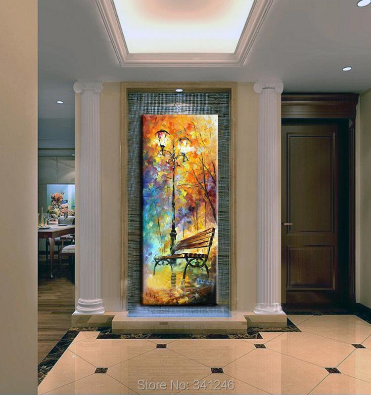 Hand painted big size modern wall art decor for living room hall ...