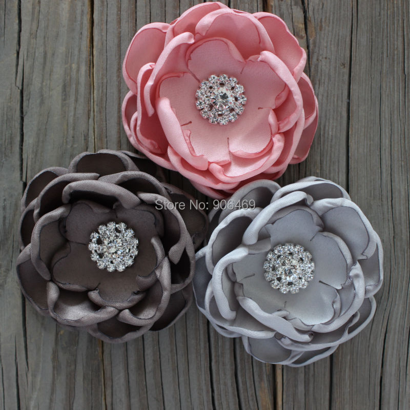 Wedding hair flower bridal accessories Wedding hair flower Bridal Fabric burn singed flowers gilr/kis hair flower