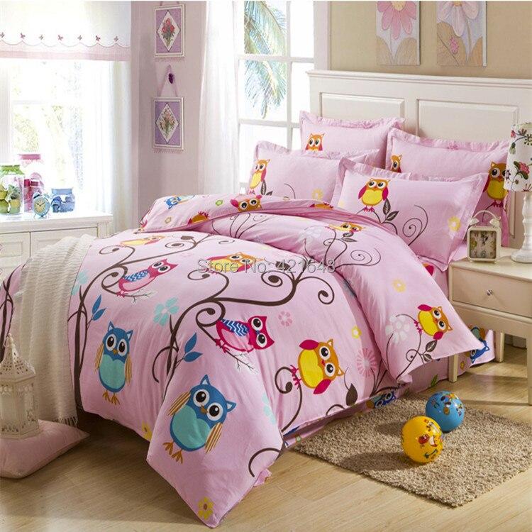 achetez en gros hibou filles literie en ligne des grossistes hibou filles literie chinois. Black Bedroom Furniture Sets. Home Design Ideas