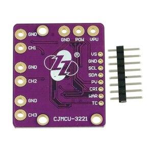 Image 2 - 1 zestaw I2C SMBUS INA3221 trójkanałowy bocznik prądu zasilania monitor napięcia płyta z czujnikami moduł wymienić INA219 Pins DIY Kit