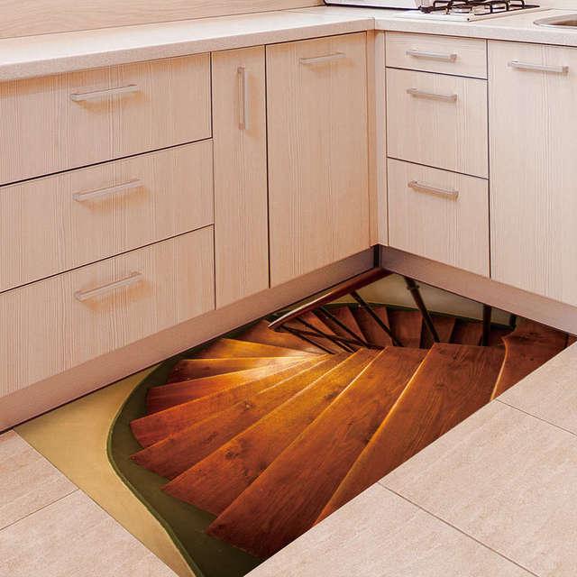 Kreative 3D rutschfeste Boden Aufkleber Dachboden Treppen Muster ...