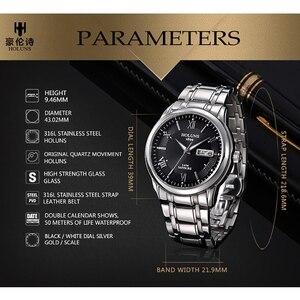 Image 5 - Holuns Top Luxe Horloge Mannen Volledig Roestvrijstalen Klok Mannelijke Sport Business Japanse Quartz Horloges Militaire Horloge Relogio