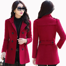 Bayan Kaban Real Rushed Solid Full Coats Design Outerwear Female 2017 Spring And Autumn Slim Coat Thickening Medium-long Winter