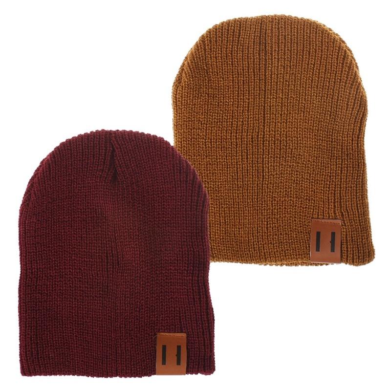 Winter Warm Kids Cap Crochet Kids Winter Cap Elastic Outdoor Boys&Girls Soft Warm Knitted Hat   Skullies     Beanies   Outdoor Hats