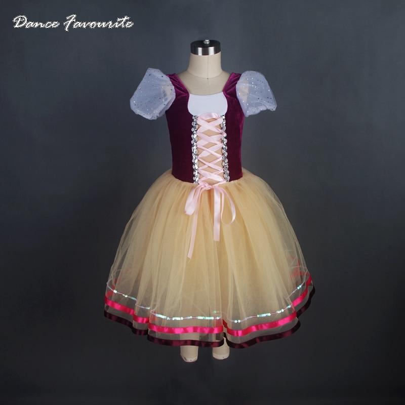 Dance Favourite New Arrival Puff Sleeve Romantic Ballet Tutu Girl & Women Performance Ballet Costumes Ballerina Dance Tutu