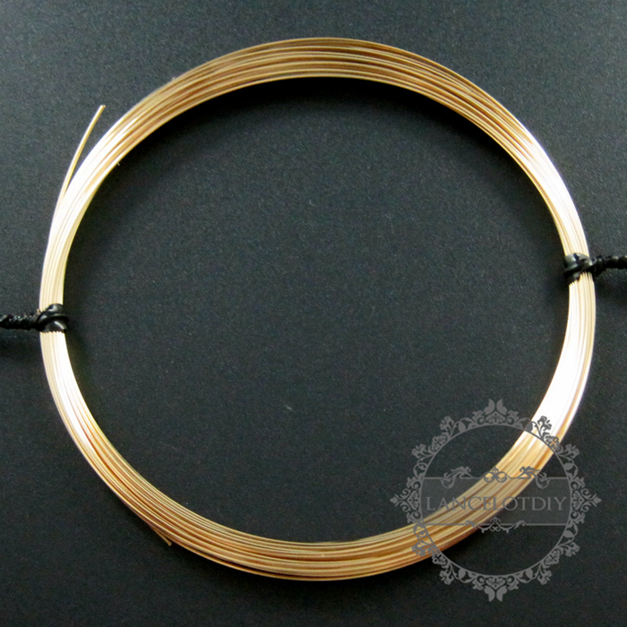 1meter 24gauge 0.51mm Half Hard Gold Filled Color Not Tarnished Beading Jewelry Wire Supplies Findings 1505004
