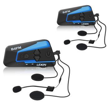 LEXIN LX-B4FM домофон мотоцикл Bluetooth гарнитура для шлема для 1-4 всадников с шумоподавлением и громким звуком, fm-радио