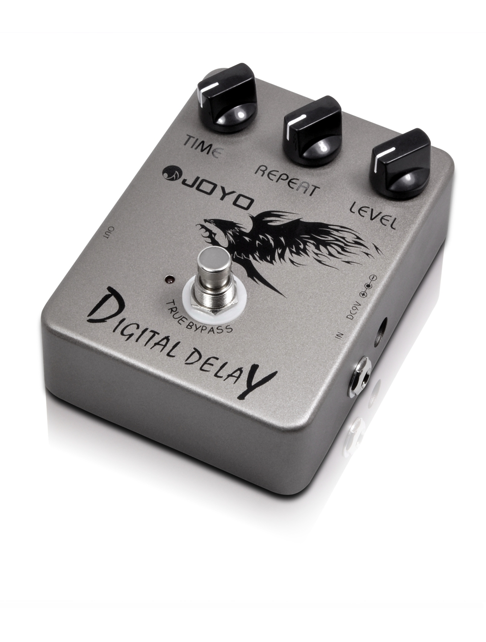 JOYO Digital Delay Guitar Effect Pedal Time Delay Repeat Level Adjustment Close To Analog Delay 25ms-200ms Delay Range