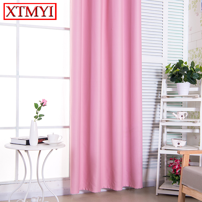 Solid Window Blackout Curtains for Bedroom girls pink/ purple/gray ...