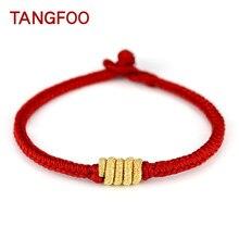 b1f7b9a8310e Tangfoo Traditionar cobertura consiste en blanco pulsera de la suerte  pulseras de cuerda y desplazamiento cumpleaños Regalos par.