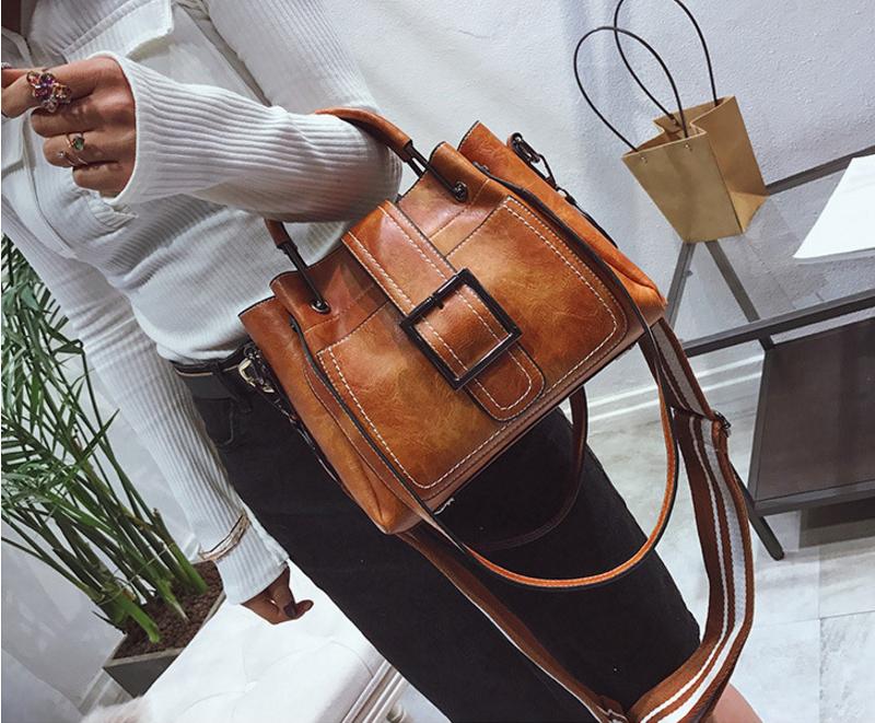 New European and American style vintage PU women handbag shoulder bag messenger bag 89