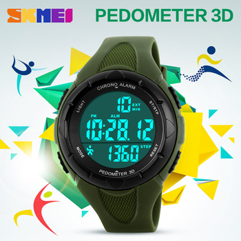 SKMEI New 2019 Popular Brand Watches Women Fashion Sport Digital LED Watch Pedometer Montre Femme Female Clock Ladies WristWatch skmei brand pedometer sport watch men digital multifunction casual fitness led watches fashion men s outdoor wristwatch relogio