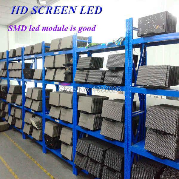 P10 polychrome rvb led module intérieur/semi-extérieur 320mm * 160mm 32*16pixels SMD 3in1 1/8 scan pour la publicité média écran led