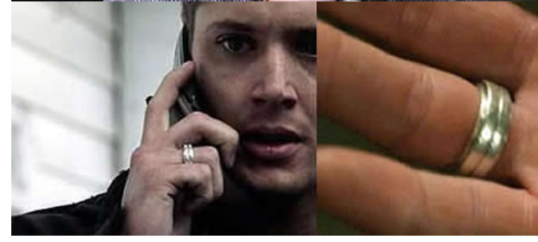 Movie TV Supernatural Dean Winchester Finger Rings Fashion Silver Plated Metal Men Women Cocktail Ring Wholesale