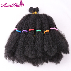 "Image 2 - Amir Mega Afro Kinky Twist Synthetic Hair 14 ""Crochet Braid Hairสำหรับผู้หญิงสีดำผม"