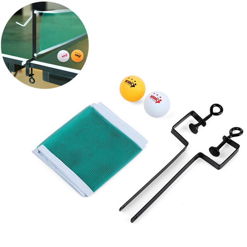Portable Table Tennis Net Set Ping Pong Ball Fix Equipment Table Tennis Ball Training Accessories