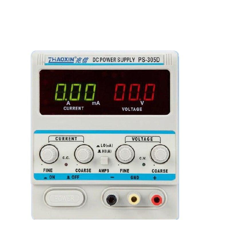 ZHAOXIN PS-305D Variable 30 V 5A DC alimentation pour réglage en laboratoire numérique LED régulé affichage DC alimentation 110 V/220 V