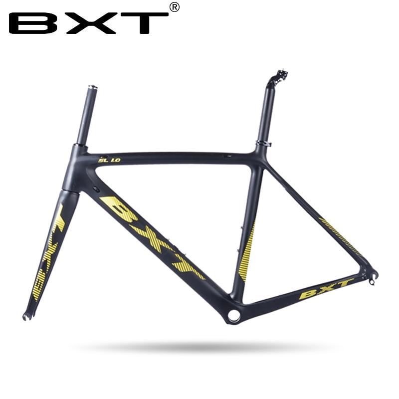 2018 A Buon Mercato Cinese carbon road bike frame Size: 500/530/550mm Super Light strada del carbonio frameset con la forcella della bicicletta da corsa telaio