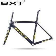 2018 китайский дешевые углерода дорожного велосипеда Размеры: 500/530/550 мм Super Light Дорога углерода фреймов с вилкой гонки рамы велосипеда