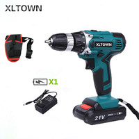 XLTOWN 21V electric screwdriver rechargeable two speed electric screwdriver cordless Multifunction hand drill power tools