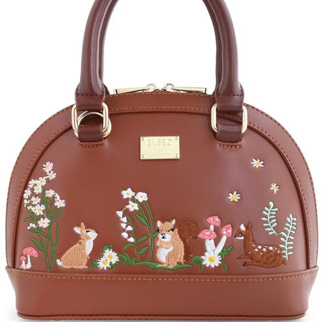Lady Floral Coffee Girl Fashion Mori Shell Rabbit Deer Squirrel Leather PU For Women's Handbags Messenger Bags Top-HandleTotes