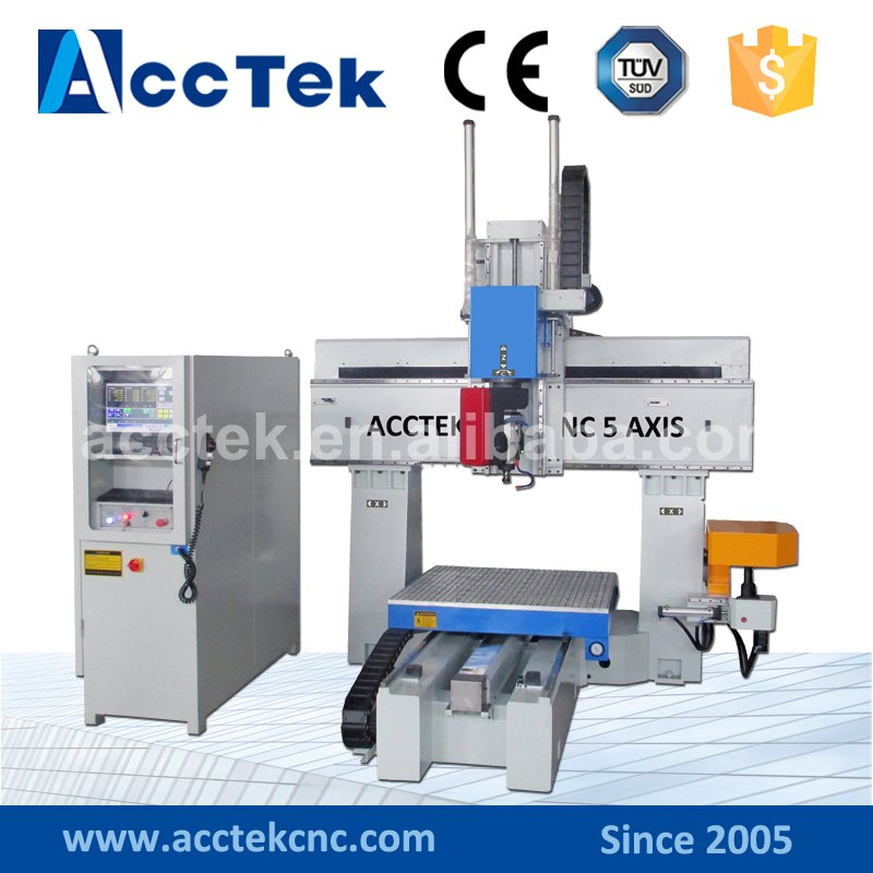 Jinan AccTek AKM1212-5axis China Factory Supplied Woodworking Cnc Machines 3D CNC Router Plastic Cutting Machine Price