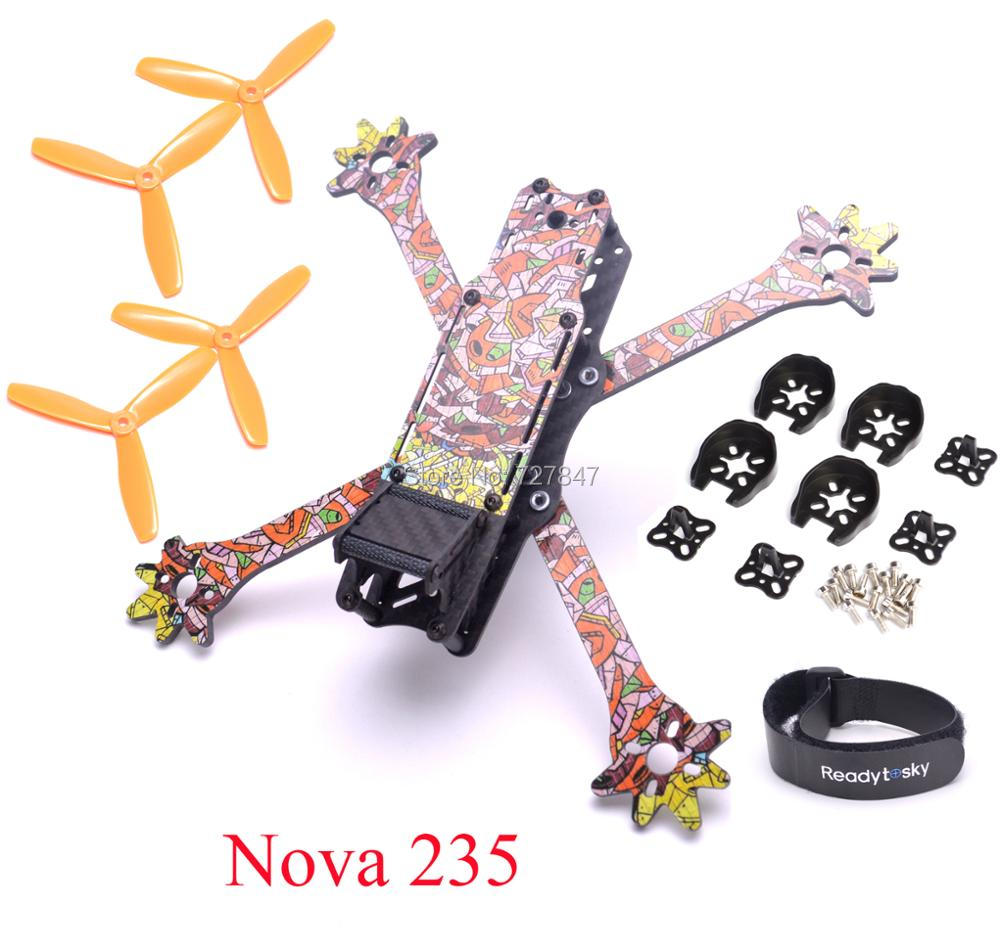 FPV Freestyle Nova 235 235mm True-X frame 3k Full Carbon Fiber Quadcopter with removable 4mm arm for FPV Racing Drone diy fpv mini drone geprc gep rx5 hawk quadcopter 3k carbon fiber 210 frame stagger arm design 4mm main up lower plate
