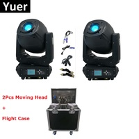 2Pcs Newest 230W LED Moving Head Lights Beam Spot Wash Stage Lights LED Lyre Moving Heads With Flight Case For Wedding Christmas