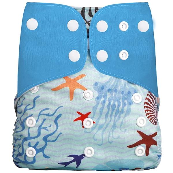 [Simfamily] Новые детские тканевые подгузники, регулируемые подгузники для мальчиков и девочек, Моющиеся Водонепроницаемые Многоразовые подгузники для новорожденных - Цвет: NO17