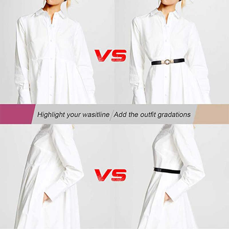 Frauen Dünne Taille Gürtel für Kleider GLRSBUTY Retro Stretch Damen Taille Gürtel Plus 2019 Kleid Zubehör für Hose Pullover Hemd